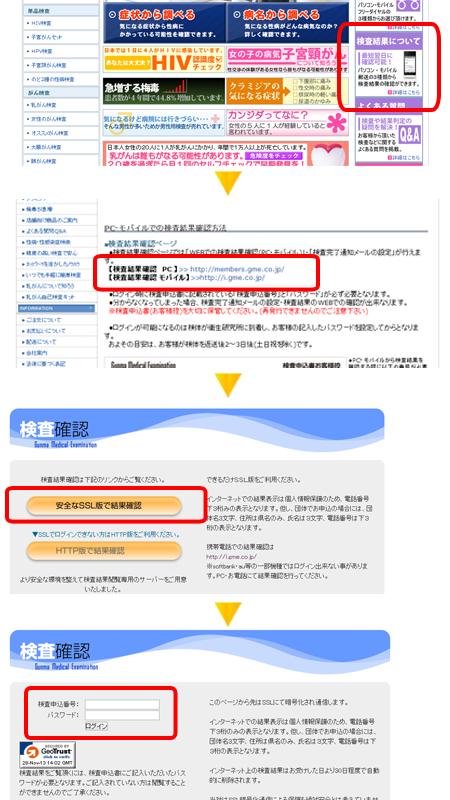 セルシーフィット検査結果の確認方法